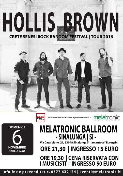hollis-brown in concerto a sinalunga