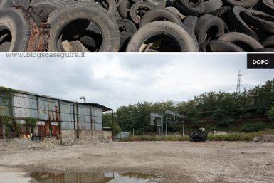 Pneumatici fuori uso - pulizia nella terra dei fuochi
