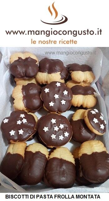 biscotti con pasta frolla montata