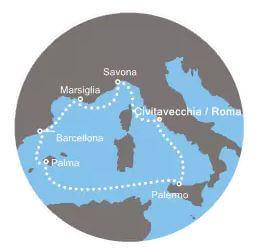 costa crociera Mediterraneo