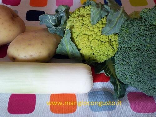 ingredienti vellutata patate e broccoli