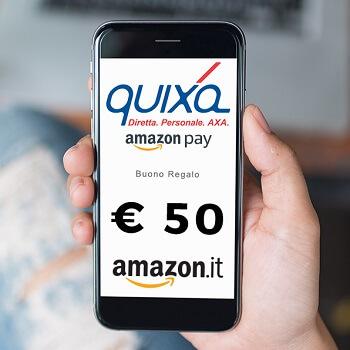 Quixa si paga con Amazon Pay