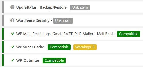 php compatibility plugin