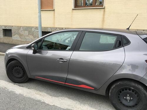 Renault Clio IV serie grigio cassiopea