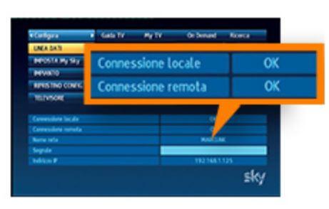 Sky connessione dati ok