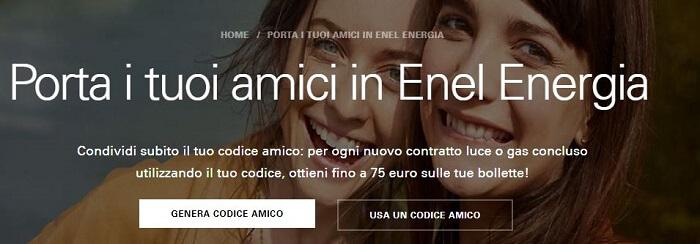 enel energia porta un amico