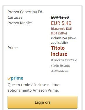 Amazon Prime leggi ora gratis