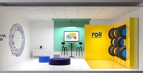 roll by goodyear showroom