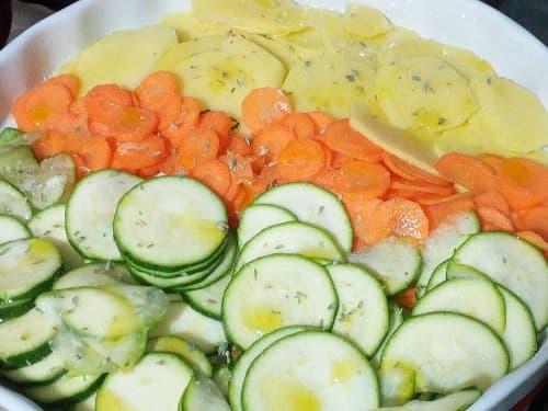 verdure croccanti in preparazione
