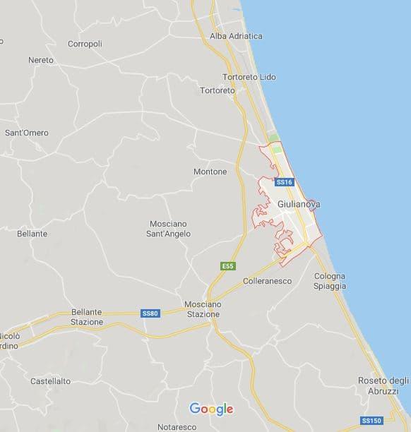 mappa Giulianova