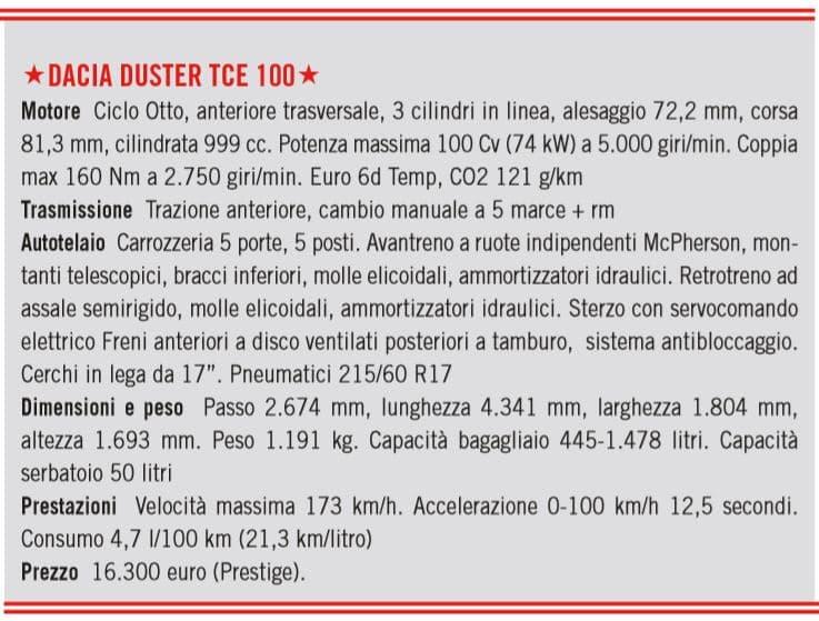 Review Dacia Duster Automobilismo